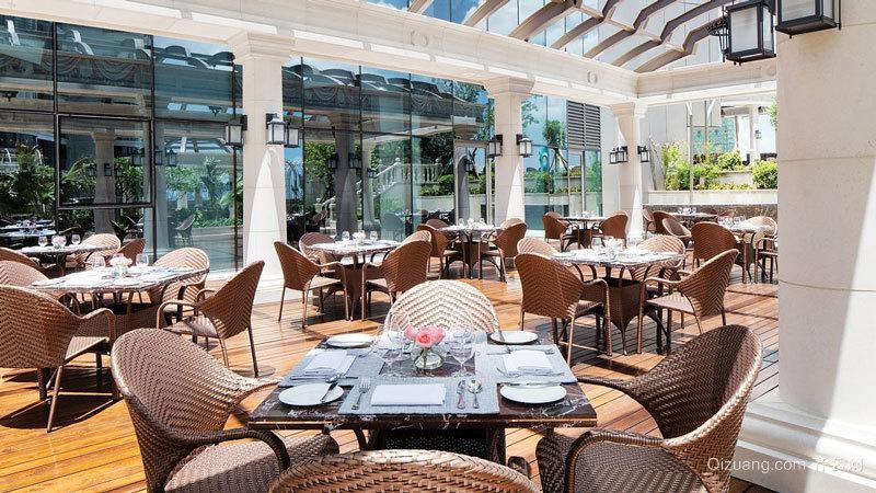 86平米欧式风格西餐厅设计装修效果图赏析
