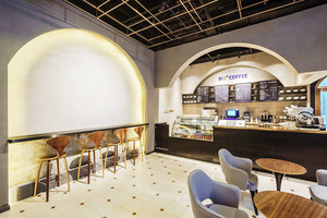 56平米美式风格咖啡厅设计装修效果图