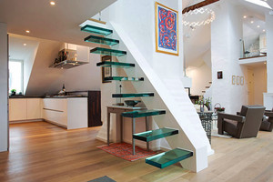 北欧风格小复式创意楼梯设计装修效果图赏析