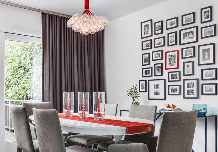简欧风格时尚餐厅照片墙装修效果图赏析
