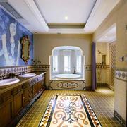 东南亚风格别墅室内精致卫生间效果图赏析