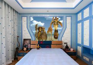 地中海风格简约清新儿童房设计装修效果图赏析