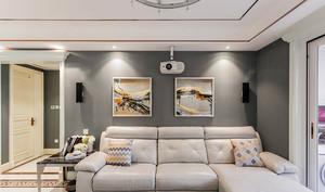 141平米简欧风格浅色温馨三室两厅室内装修效果图