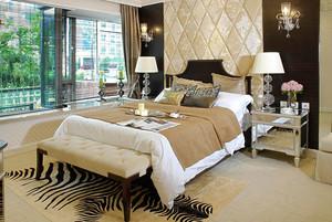 简欧风格大户型室内精致卧室背景墙装修效果图