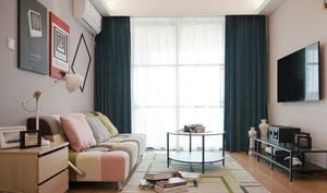 55平米现代简约风格单身公寓装修效果图赏析