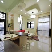 现代简约风格客厅吧台设计装修效果图赏析