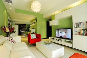 93平米清新风格简约三室两厅室内装修效果图赏析