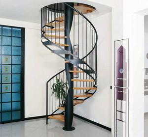 现代风格精致铁艺旋转楼梯设计装修效果图赏析