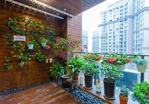 新中式风格大户型精致阳台花园设计装修效果图