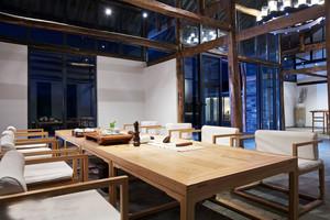68平米简约中式风格茶楼设计装修效果图