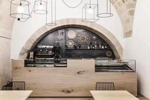美式风格精致文艺咖啡厅柜台设计装修效果图