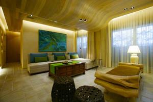 东南亚风格大户型室内精致客厅吊顶设计装修效果图