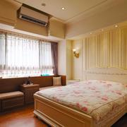 简欧风格浅色温馨卧室飘窗设计装修效果图赏析