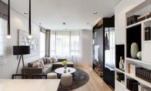86平米现代风格精致公寓装修效果图赏析