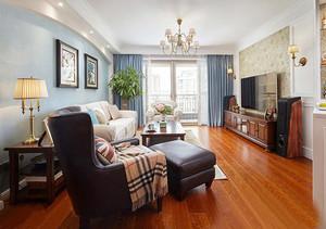 119平米简约美式风格三室两厅室内装修效果图赏析