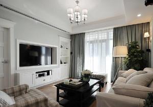 113平米现代简约美式风格精装两室两厅室内装修效果图