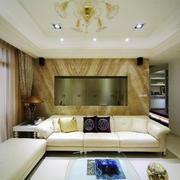 现代风格大户型室内客厅背景墙装修效果图赏析