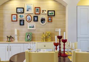 简约美式风格创意照片墙装修效果图
