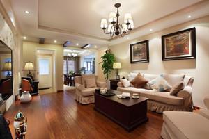 116平米美式风格精装两室两厅室内装修效果图