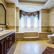欧式风格别墅室内豪华卫生间设计装修效果图