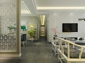 简约清新中式风格四室两厅室内装修效果图