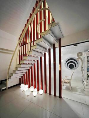 现代风格精致复式楼创意楼梯装修效果图
