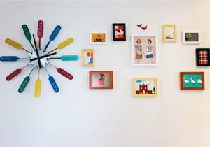 简约风格时尚创意照片墙装修效果图