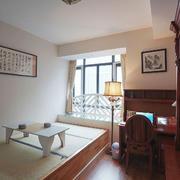 中式风格精致书房榻榻米设计装修效果图