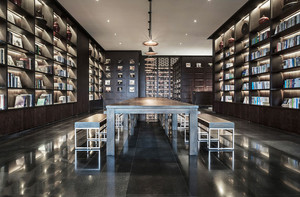 100平米后现代风格大型书店设计装修效果图