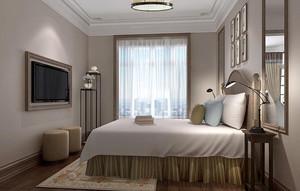 32平米新中式风格宾馆客房设计装修效果图