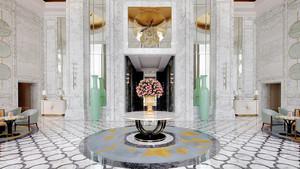 300平米欧式风格精致酒店大堂设计装修效果图