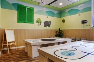 64平米现代简约风格幼儿园教室布置装修效果图