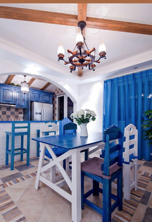 地中海风格大户型简约餐厅设计装修效果图
