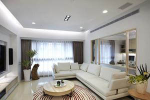 现代简约风格白色客厅设计装修效果图赏析