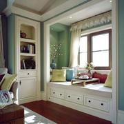 清新美式风格精美飘窗设计装修效果图赏析