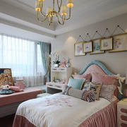 欧式风格浅色温馨女生儿童房设计装修效果图