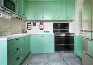 清新风格薄荷绿整体厨房装修效果图赏析