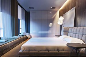 20平米现代简约风格卧室飘窗设计装修效果图