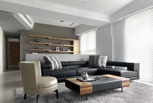 115平米现代风格精致三室两厅室内装修效果图赏析