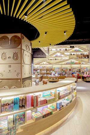 120平米简约风格书店设计装修效果图赏析