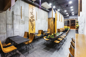 90平米现代简约风格文艺咖啡厅装修效果图