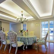 欧式风格大户型室内精美餐厅吊顶设计装修效果图