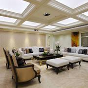 欧式风格大户型室内精致客厅吊顶设计装修效果图