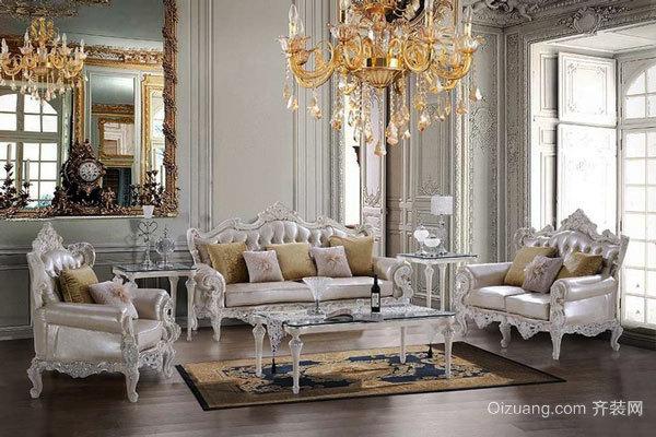 欧式风格奢华别墅室内客厅装修效果图赏析