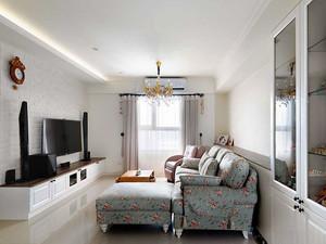 102平米田园风格简约三室两厅室内装修效果图赏析
