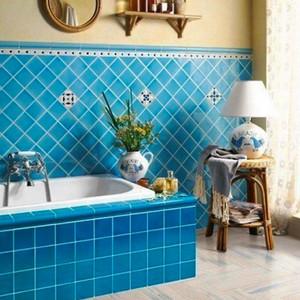 清新风格创意卫生间瓷砖装修效果图大全