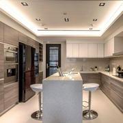 现代风格开放式厨房吧台设计装修效果图赏析