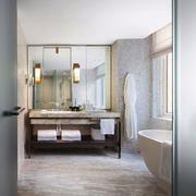 新中式风格大户型室内卫生间装修效果图赏析