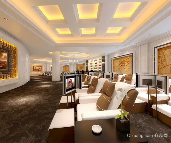 500平米欧式风格酒店大堂设计装修效果图