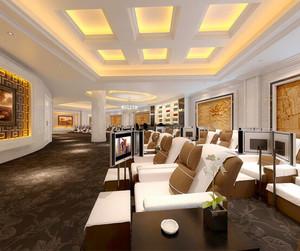 80平米中式风格美容院设计装修效果图